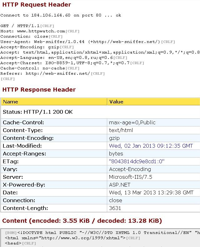 websniffer.net