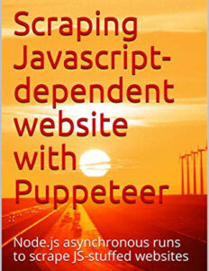 Scraping a Javascript-dependent website with puppeteer
